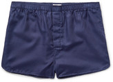 Derek Rose Lombard Cotton-jacquard Boxer Shorts - Navy