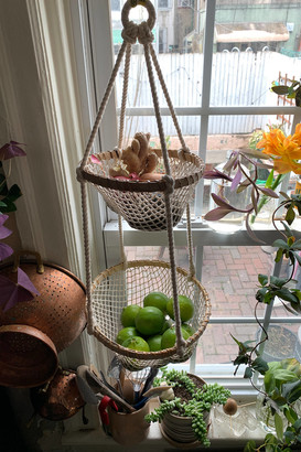 Urban Outfitters 2-Tier Hanging Net Fruit Basket