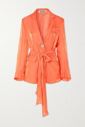 Kenzo Crinkled-satin Jacket - Orange