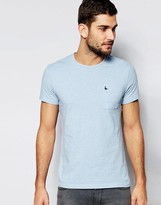 Jack Wills Pocket T-Shirt In Slim Fit in Blue Nep