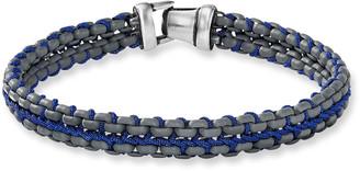 David Yurman Men's 10mm Woven Box Chain Bracelet, Blue