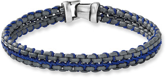 David Yurman Men's 10mm Woven Box Chain Bracelet, Blue