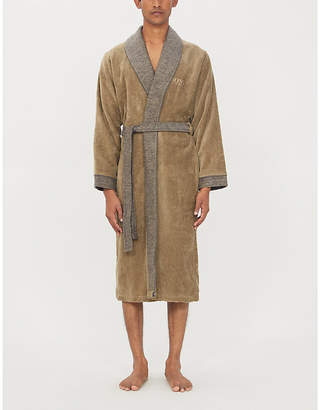 BOSS Lord Havane cotton dressing gown