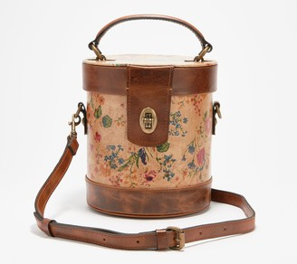 Patricia Nash Leather Top Handle Cylinder Bag - Noli