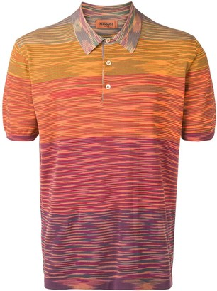 Missoni knitted striped polo shirt