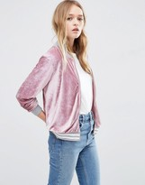 Asos Bomber Jacket in Velvet