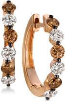 LeVian Le Vian Chocolatier Diamond Hoop Earrings (1-1/10 ct. t.w.) in 14k Rose Gold