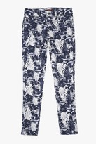 7 For All Mankind Girls 7-14 The Skinny In Inigo Floral Print