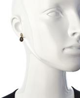 Viducci Smoky Quartz Diamond Teardrop Earrings