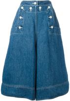 Sacai loose fit denim culottes