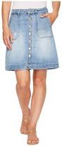 Jag Jeans Florence Skirt Crosshatch Denim in Blue Issue Women's Skirt
