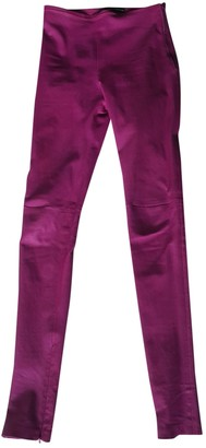 Balenciaga Pink Leather Trousers