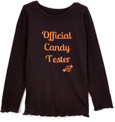 Beary Basics Black 'Official Candy Tester' Tee - Toddler & Girls