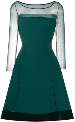 Lisa sheer sleeves dress