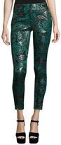 Alice + Olivia Lancy Paisley Jacquard Trousers, Multicolors