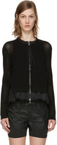 Moncler Black Double Layer Zip Sweater