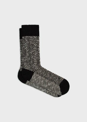 Giorgio Armani Chevron Knitted Socks