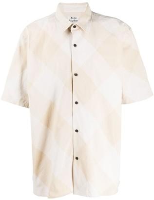 Acne Studios Diagonal-Stripe Short-Sleeve Shirt