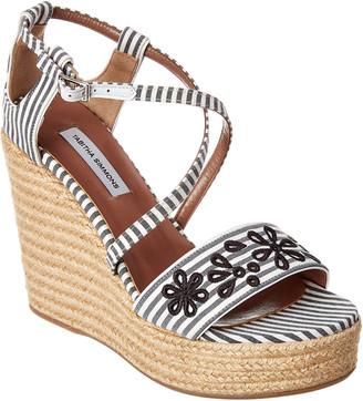 Tabitha Simmons Jenny Flower Wedge Sandal