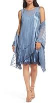 Komarov Women's Embellished Chiffon & Charmeuse Shift Dress With Shawl