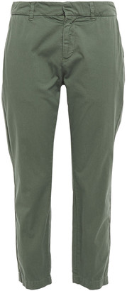 Nili Lotan Tel Aviv Cropped Stretch-cotton Twill Tapered Pants