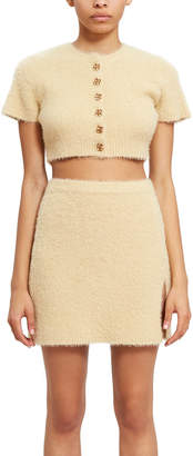 Callipygian Short Sleeve Furry Cardigan
