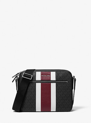 Michael Kors Hudson Logo Stripe Camera Bag