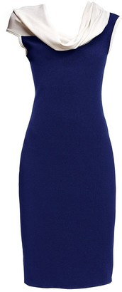 Rumour London Sophia Blue Asymmetric Knitted Dress