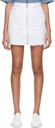 Rag & Bone White Denim Anna Miniskirt