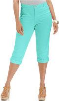 Style&Co. Style & Co. Plus Size Tummy-Control Capri Jeans