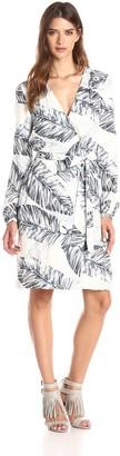Style Stalker StyleStalker Women's Palm Springs Printed Belted Dress Small