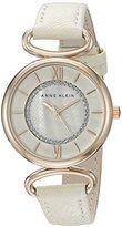 Anne Klein Women's AK/2192RGIV Glitter Accented Rose Gold-Tone and Ivory Strap Watch