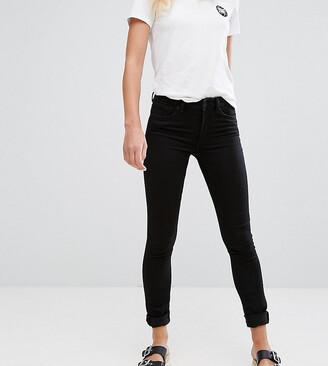 Monki mocki mid waist slim jeans with organic cotton in deep black