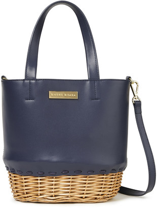 Heidi Klein Trieste Leather And Wicker Tote