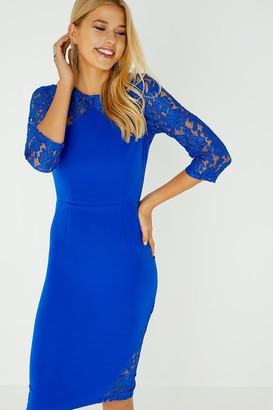 Paper Dolls Hart Cobalt Lace Insert Dress