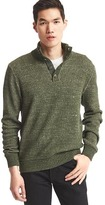 Gap Heathered mockneck sweater