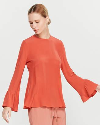 Liviana Conti Silk Flounce Blouse
