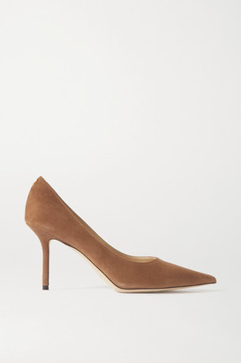 Jimmy Choo Love 85 Suede Pumps - Tan