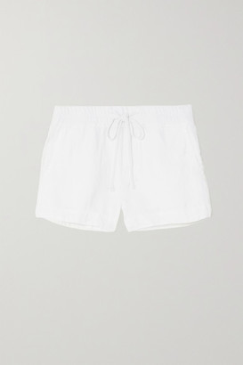 James Perse Lyocell And Linen-blend Shorts - White