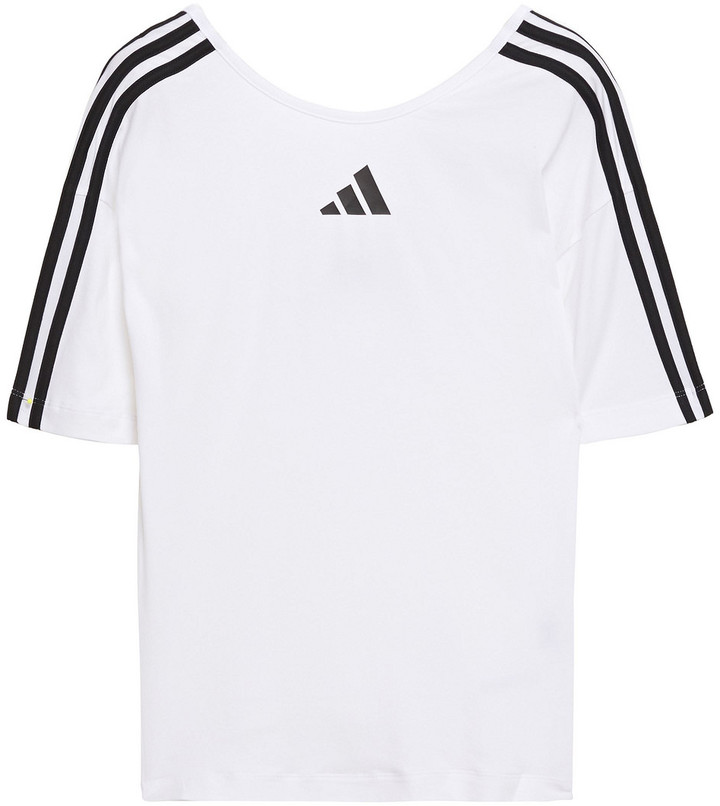 adidas Printed Stretch Cotton And Modal-blend Jersey Top