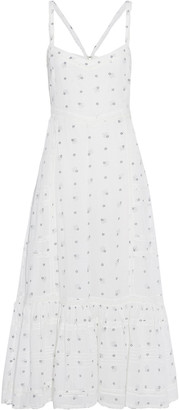 LoveShackFancy Edith Lace-trimmed Printed Cotton-voile Midi Dress
