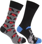 Batman V Superman Official Mens Cotton Rich Socks (Pack Of 2)