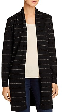 Sioni Metallic-Stripe Duster Cardigan
