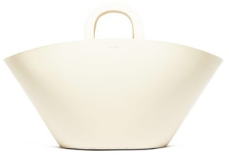 LAUREN MANOOGIAN Barcelona Leather Tote Bag - White