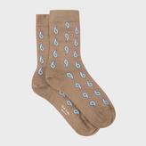 Paul Smith Women's Taupe Paisley Silk-Blend Socks