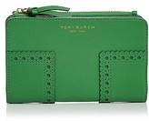 Tory Burch Block-T Brogue Medium Leather Wallet