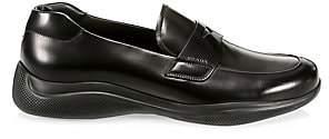 Prada Men's Spazzolato Rois Leather Penny Loafers
