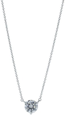 Kwiat Platinum Diamond Solitaire Pendant Necklace