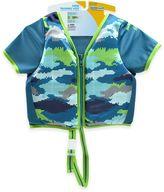 Aqua Leisure Boys' Short Sleeve Camo Swim Vest in Blue