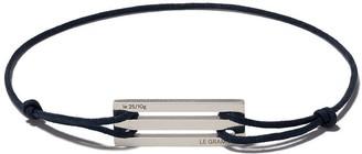 Le Gramme Navy Cord Bracelet 25/10g